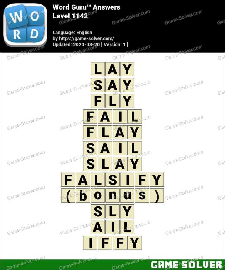 Word Guru Level 1142 Answers
