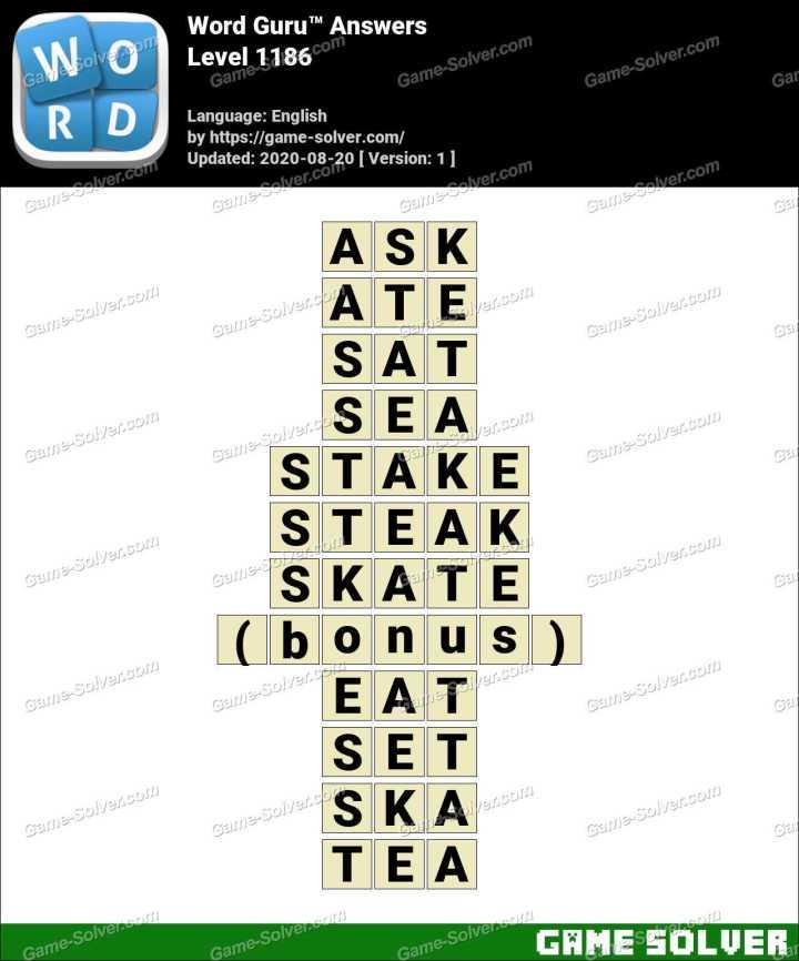 Word Guru Level 1186 Answers