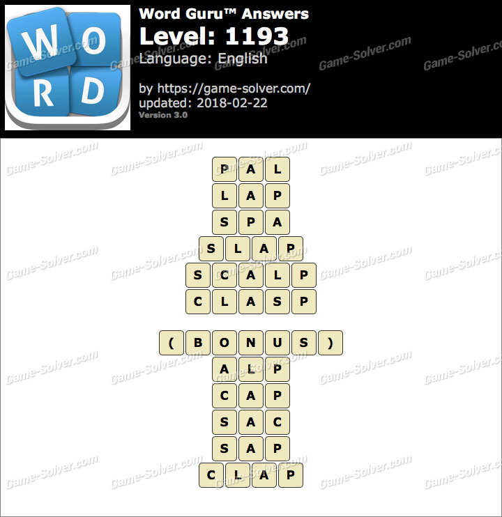 Word Guru Level 1193 Answers