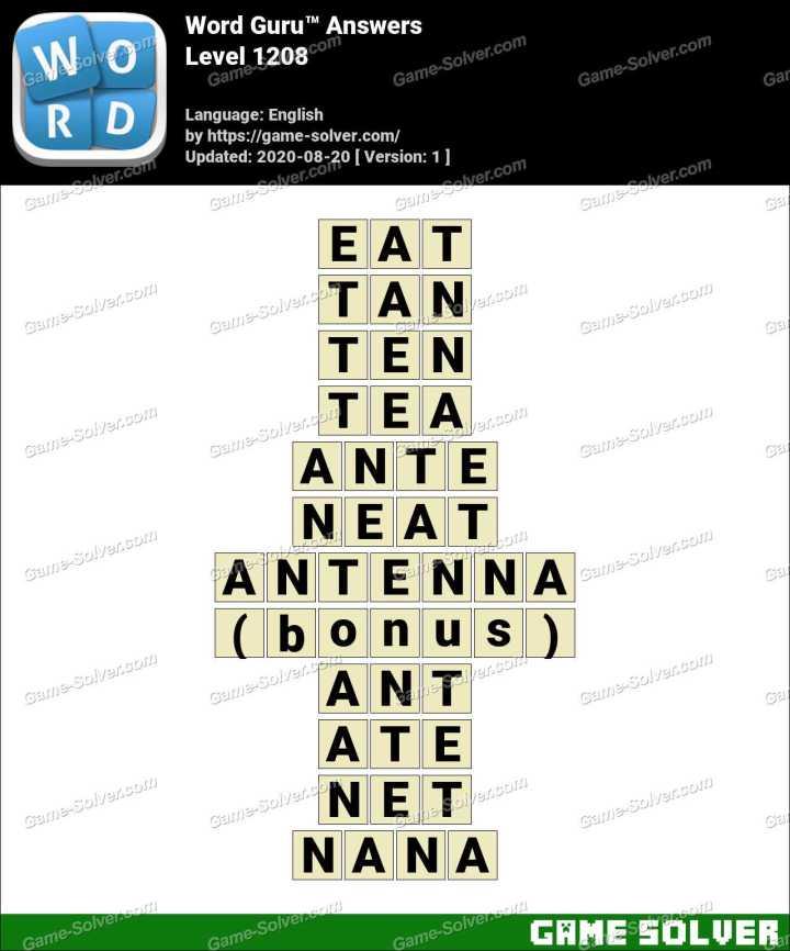 Word Guru Level 1208 Answers