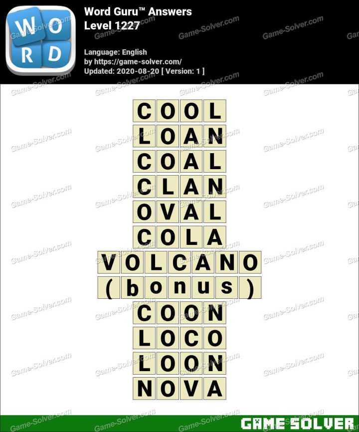 Word Guru Level 1227 Answers