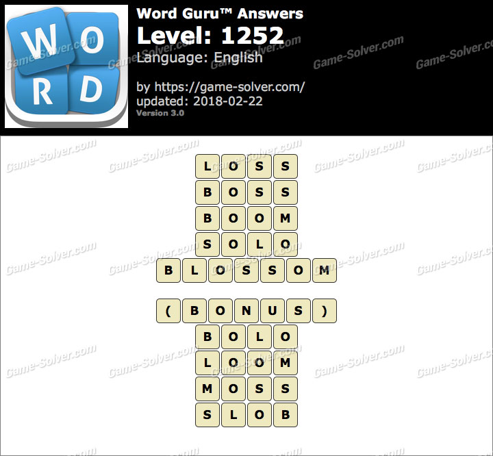 Word Guru Level 1252 Answers