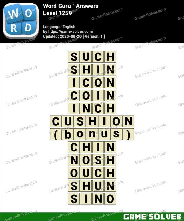Word Guru Level 1259 Answers
