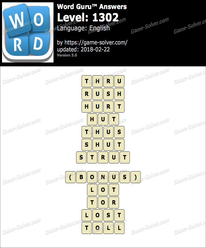 Word Guru Level 1302 Answers
