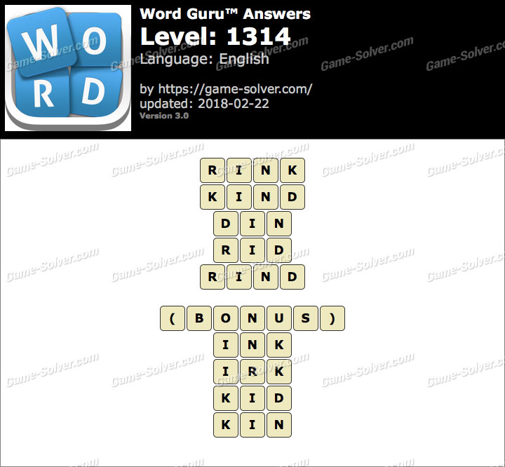 Word Guru Level 1314 Answers