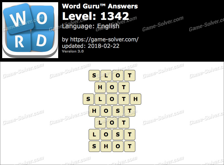 Word Guru Level 1342 Answers