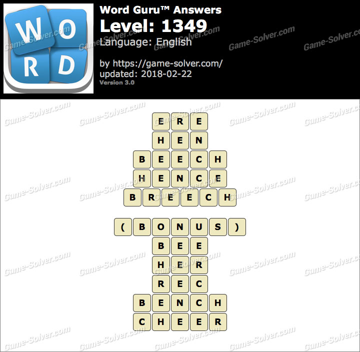 Word Guru Level 1349 Answers