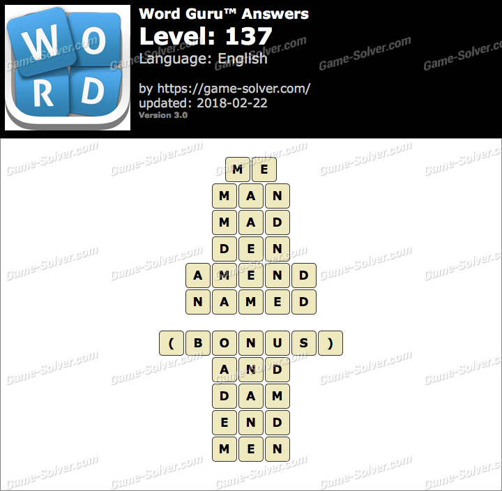 Word Guru Level 137 Answers