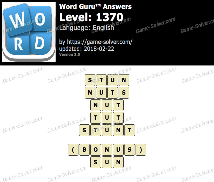 Word Guru Level 1370 Answers