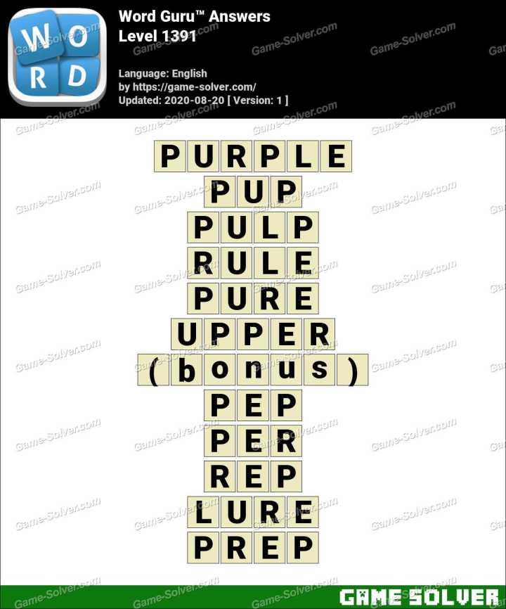Word Guru Level 1391 Answers