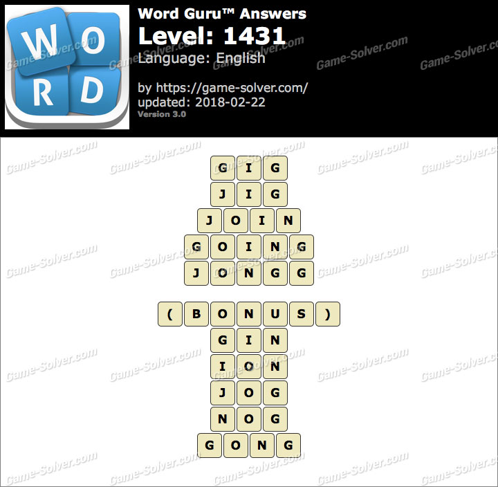 Word Guru Level 1431 Answers