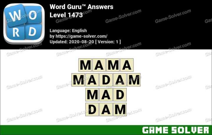 Word Guru Level 1473 Answers