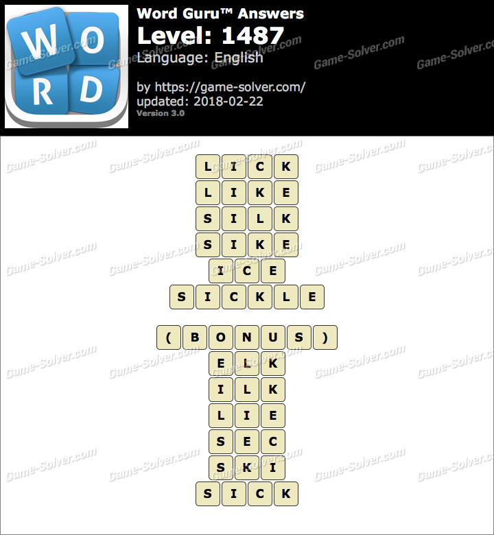 Word Guru Level 1487 Answers