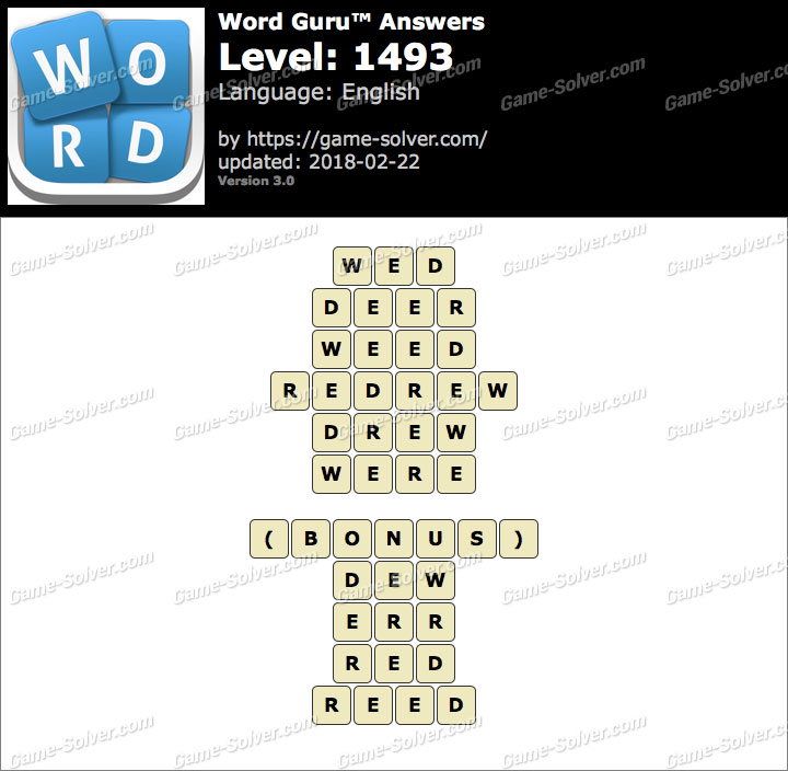 Word Guru Level 1493 Answers