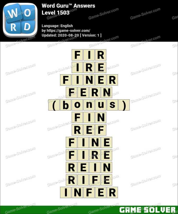 Word Guru Level 1503 Answers