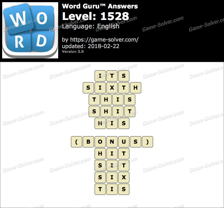 Word Guru Level 1528 Answers