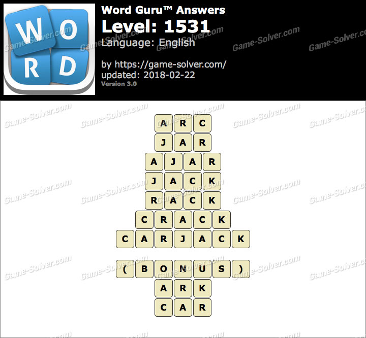 Word Guru Level 1531 Answers