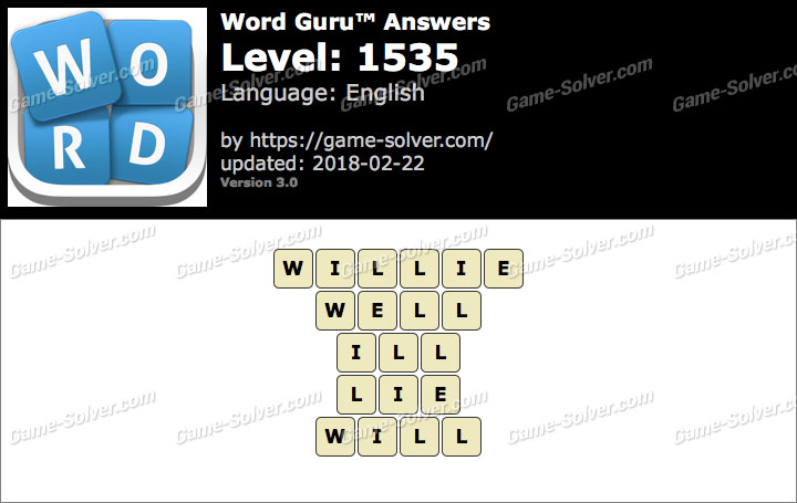 Word Guru Level 1535 Answers