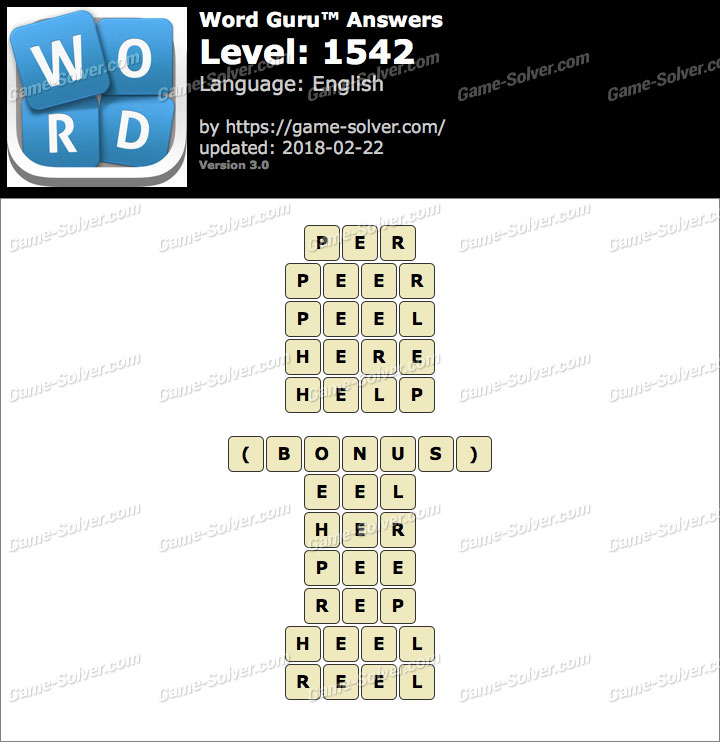 Word Guru Level 1542 Answers