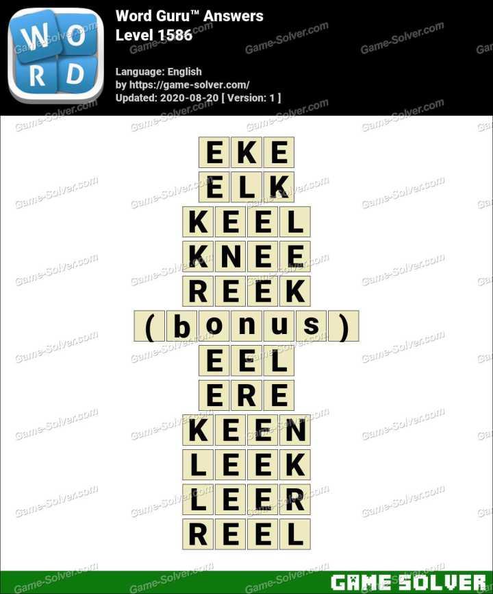 Word Guru Level 1586 Answers