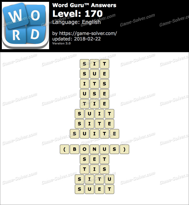 Word Guru Level 170 Answers