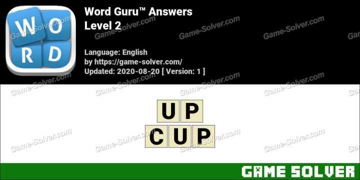 Word Guru Level 2 Answers