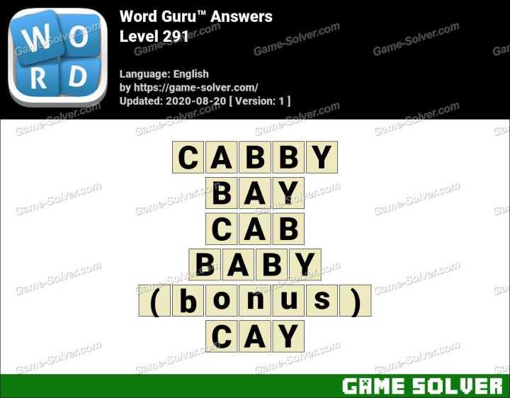 Word Guru Level 291 Answers