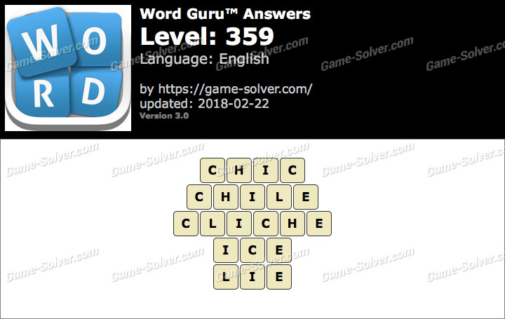 Word Guru Level 359 Answers