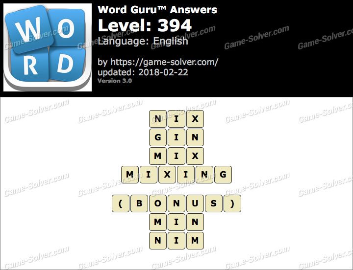 Word Guru Level 394 Answers