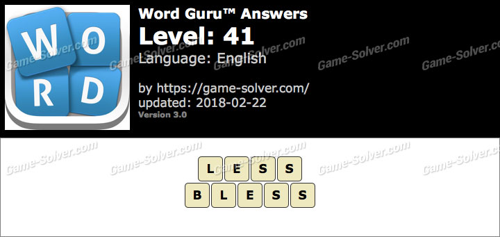 Word Guru Level 41 Answers