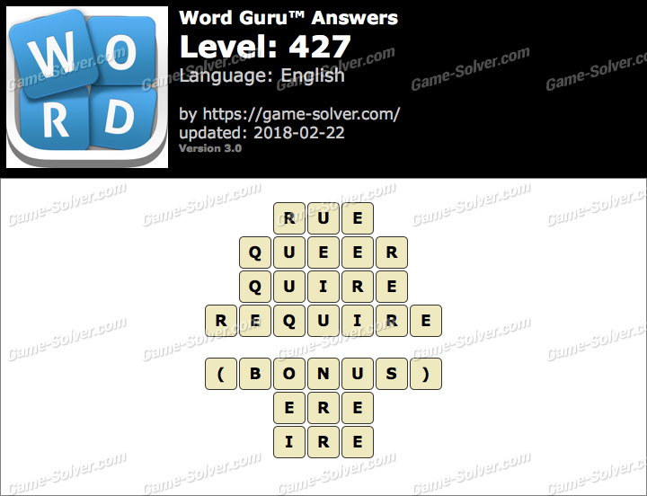 Word Guru Level 427 Answers