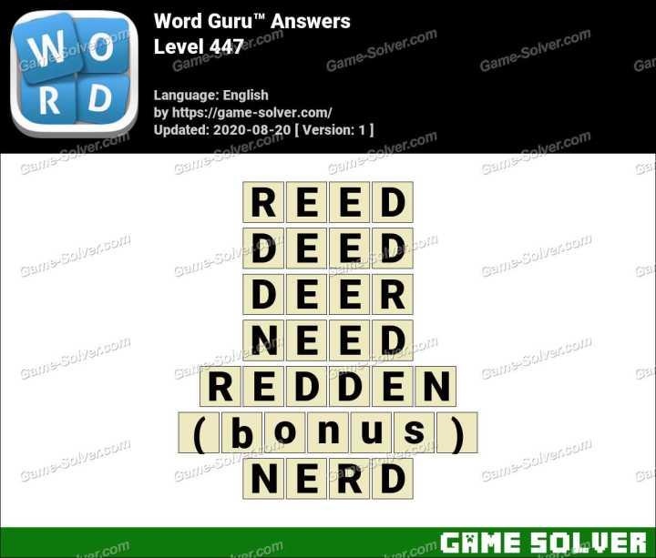 Word Guru Level 447 Answers