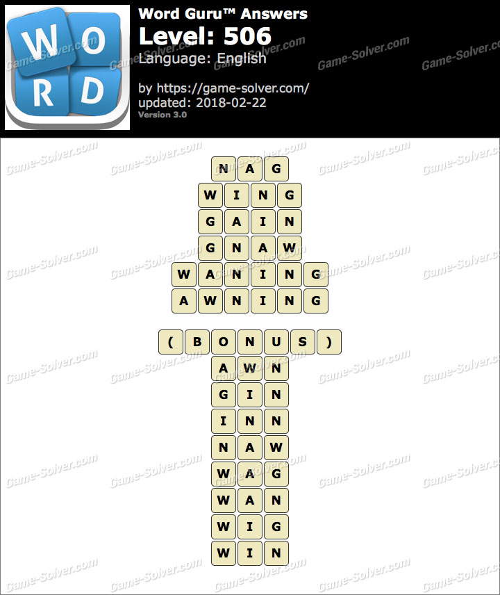 Word Guru Level 506 Answers