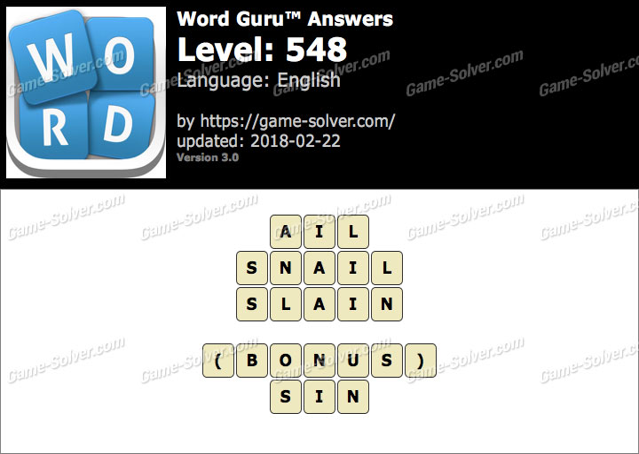 Word Guru Level 548 Answers