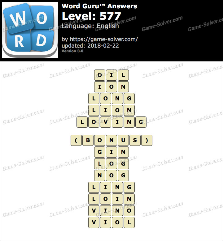 Word Guru Level 577 Answers