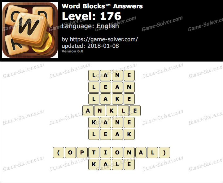 Word Blocks Level 176 Answers