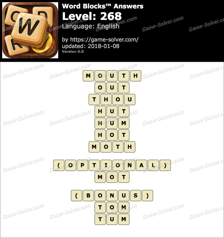 Word Blocks Level 268 Answers