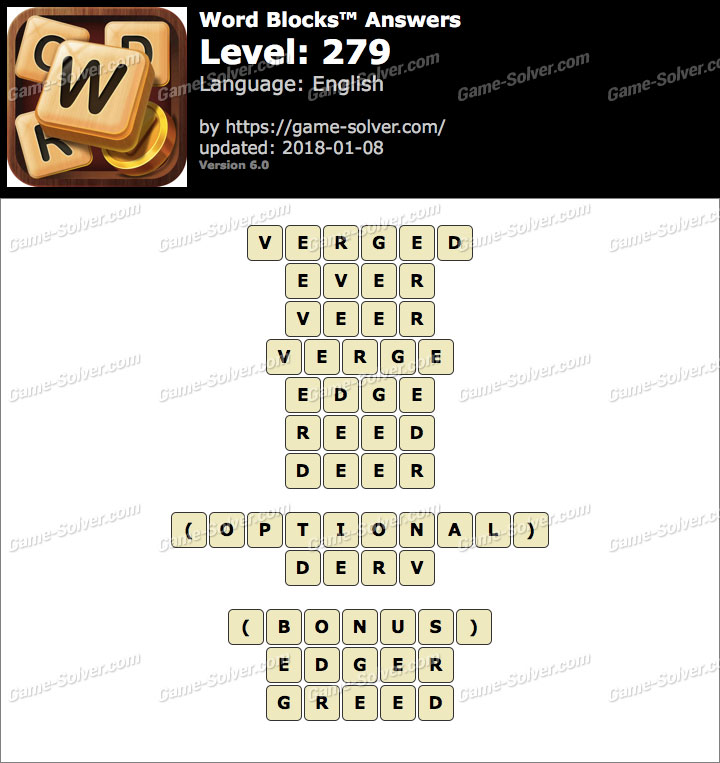 Word Blocks Level 279 Answers