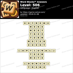 Word Blocks Level 506 Answers