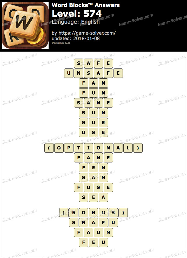 Word Blocks Level 574 Answers