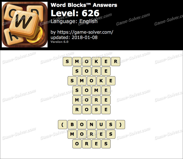 Word Blocks Level 626 Answers