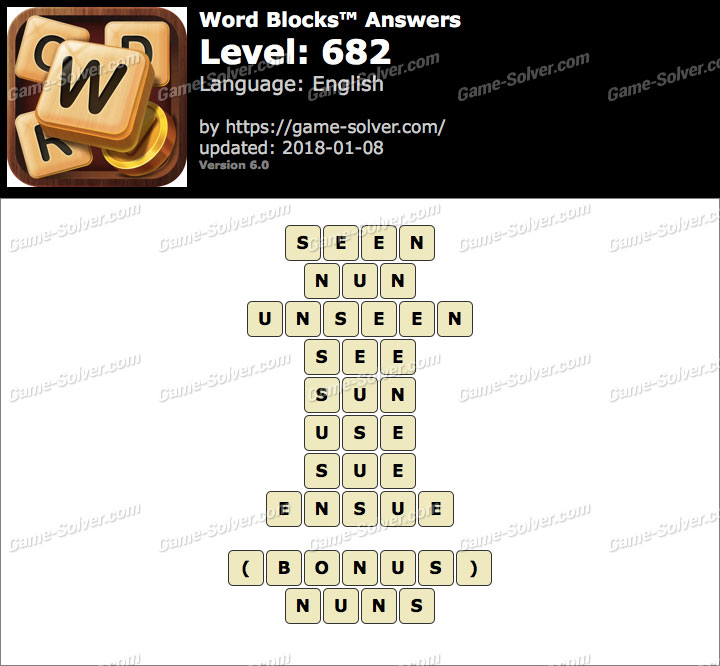 Word Blocks Level 682 Answers