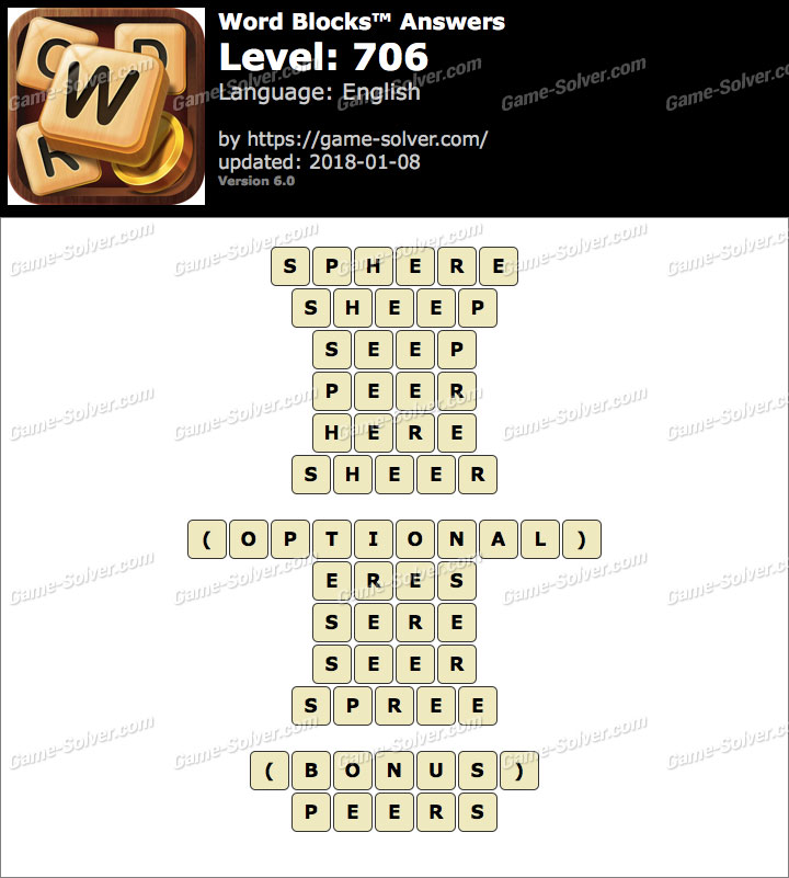 Word Blocks Level 706 Answers
