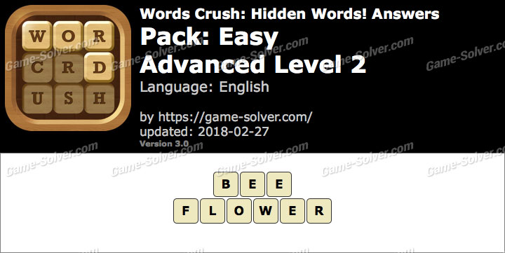 Words Crush Easy-Advanced Level 2 Answers