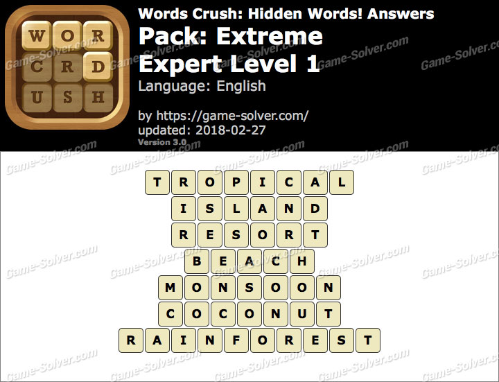 Words Crush Extreme-Expert Level 1 Answers