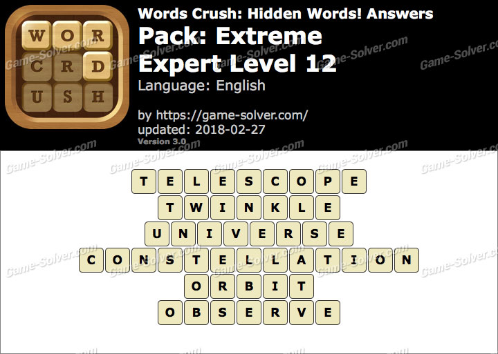 Words Crush Extreme-Expert Level 12 Answers