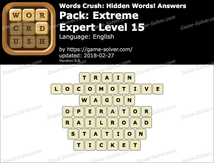 Words Crush Extreme-Expert Level 15 Answers