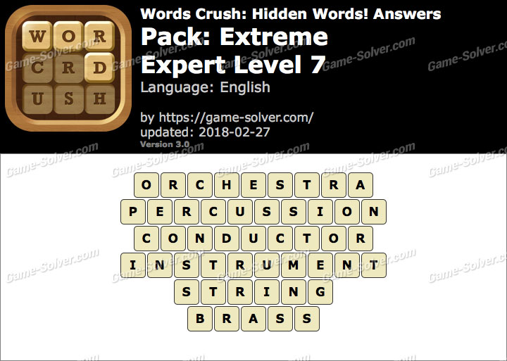 Words Crush Extreme-Expert Level 7 Answers