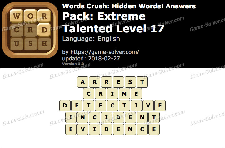Words Crush Extreme-Talented Level 17 Answers