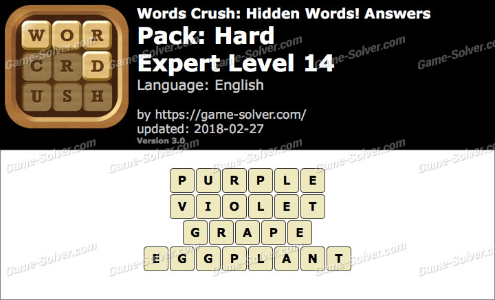 Words Crush Hard-Expert Level 14 Answers